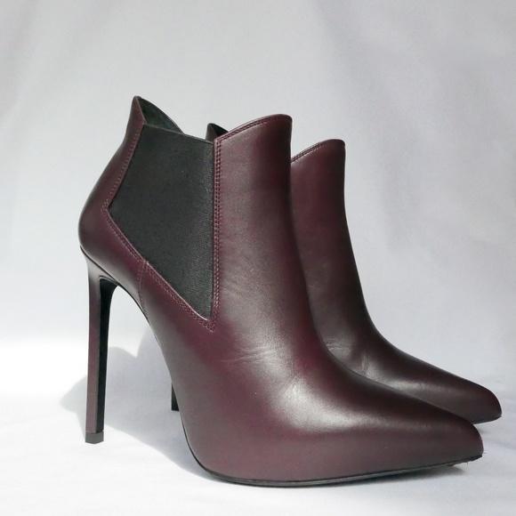 cf40e51b2b5 Saint Laurent Shoes | Burgundy Paris Chelsea Booties | Poshmark